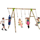 more details on Plum Capuchin Wooden Pole Swing Set.