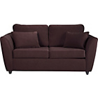 more details on HOME Eleanor 2 Seater Fabric Sofa Bed - Chocolate.