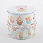 more details on Retro Treats Set of 2 Cake Tins.