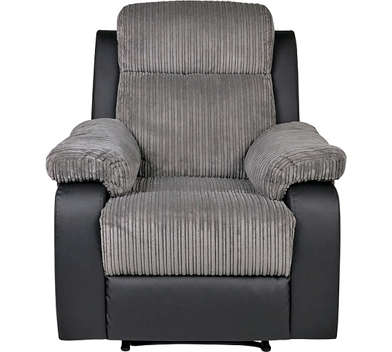 Buy Collection Bradley Manual Recliner Chair Charcoal At