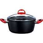 more details on Pyrex 24cm Granate Cast Aluminium Casserole Dish - Black.