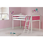 more details on Coloured Pink Mid Sleeper Bed with Bibby Mattress.