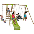 more details on Plum Muriqui Wooden Pole Swing Set.