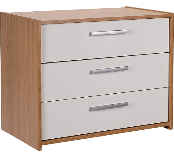 Buy Home New Sywell 3 Drawer Chest Oak Effect Amp White Gloss At Argos