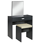 more details on HOME New Capella 1Drw Dressing Table,Stool, Mirror-Black Ash