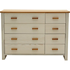 more details on Heart of House Wiltshire 4+4 Drawer Chest - White Ash.