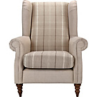 more details on Heart of House Argyll Checked Fabric Chair - Cream.