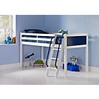 more details on Coloured Blue Mid Sleeper Bed with Bibby Mattress.