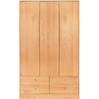 more details on New Malibu 3 Door 4 Drawer Wardrobe - Beech Effect.