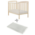 more details on Starlight Cot and Mattress - Cream.