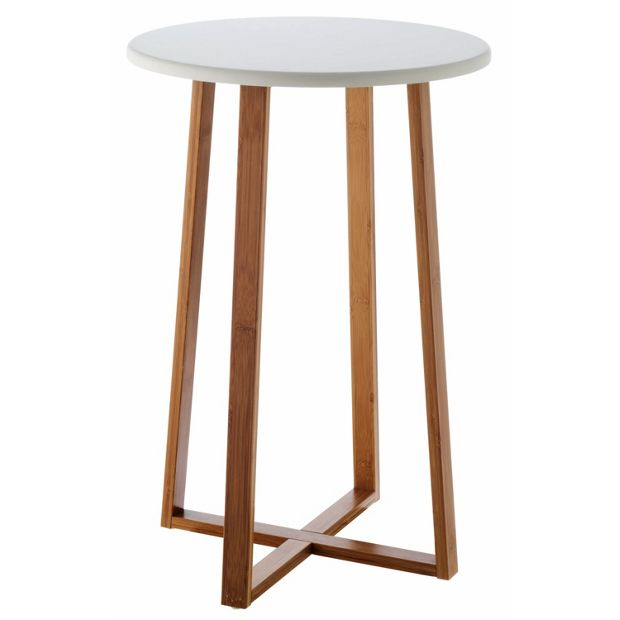 Buy habitat drew tall side table bamboo at - How tall is a coffee table ...