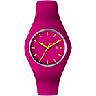 more details on Ice Watch Pink and Yellow Silicone Strap Watch.
