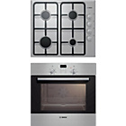 more details on Bosch HBN3NGU4B1 Single Electric Oven and Gas Hob - S Steel