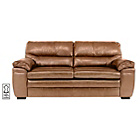 more details on Simone Premium Leather Large Sofa - Taupe.
