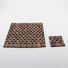 more details on Creative Tops 4 Slatted Wood Mats and Coasters - Wood.