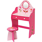 more details on Flower 1 Drawer Dressing Table - Pink.
