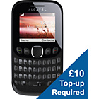 more details on EE Alcatel Tribe 30.03 Mobile Phone - Black.