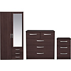 more details on New Hallingford 3 Piece 2 Dr Wardrobe Package- Wenge Effect.