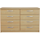 more details on New Hallingford 4+4 Drawer Chest - Beech Effect.