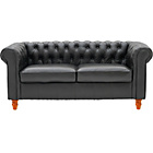 more details on Collection Chesterfield Large Leather Sofa - Black.