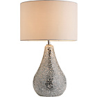 more details on Heart of House Eloise Crackle Finish Table Lamp - Silver.