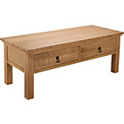 more details on Knightsbridge 2 Drawer Coffee Table - Oak & Oak Veneer.
