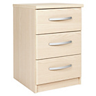 more details on New Hallingford 3 Drawer Bedside Chest - Light Oak Effect.