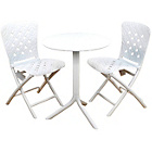 more details on Nardi Step Table with 2 Zic Zac Chairs - White.