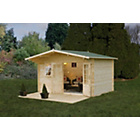 more details on Forest Buxton Wooden Log Cabin - 14 x 12ft.