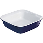 more details on Pyrex Ceramic Square Roaster - 24cm x 24cm Blue.