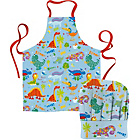 more details on Creative Tops Happy Dinosaur Apron and Chef's Hat.