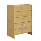 more details on HOME New Capella 5 Drawer Chest - Oak Effect.