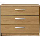 more details on Collection New Hallingford 3 Drawer Wide Chest - Oak Effect.