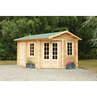 more details on Forest Pickering Wooden Corner Cabin - 13 x 9ft.