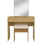 more details on HOME New Capella 1Drw Dressing Table,Stool,Mirror-Oak Effect