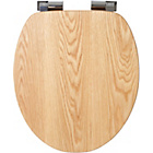 more details on Croydex Fitzroy Solid Oak Toilet Seat - Oak.