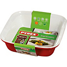 more details on Pyrex Ceramic Square Roaster - 24cm x 24cm Red.