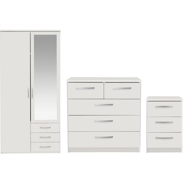 Buy Collection New Hallingford 3pc 2dr Wardrobe Package White At Your Online