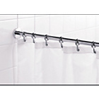 more details on Croydex Round Shower Curtain Rod and Rings - Chrome.