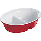 more details on Pyrex 28x22cm Ceramic Divider Oven Dish - Red.