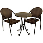 more details on Fleuretta Bistro Set with 2 San Tropez Chairs - Black.