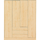 more details on New Malibu 4 Door 3 Drawer Wardrobe - Maple Effect.