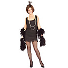 more details on Fancy Dress 1920's Black Flapper Dress - Size 8-10.