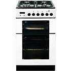 more details on Baumatic BCG520W 50cm Gas Twin Cooker - White.