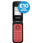 more details on Lebara Alcatel 1035 Mobile Phone - Red.