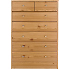 more details on New Malibu 5+2 Drawer Chest - Pine Effect.