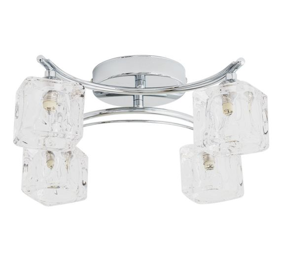 buy heart of house cuba 4 light ice cube ceiling fitting. Black Bedroom Furniture Sets. Home Design Ideas