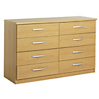 more details on New Hallingford 4+4 Drawer Chest - Oak Effect.