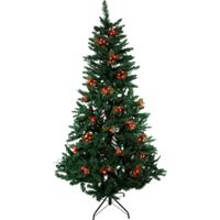 60 Holly and Berry Christmas Tree Lights (Red)