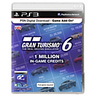 more details on PSN Live Networkd Card - 1 Million Gran Turismo 6 Credits.